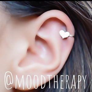 Non Pierced Sweetheart Ear Cuff Clip On Earring
